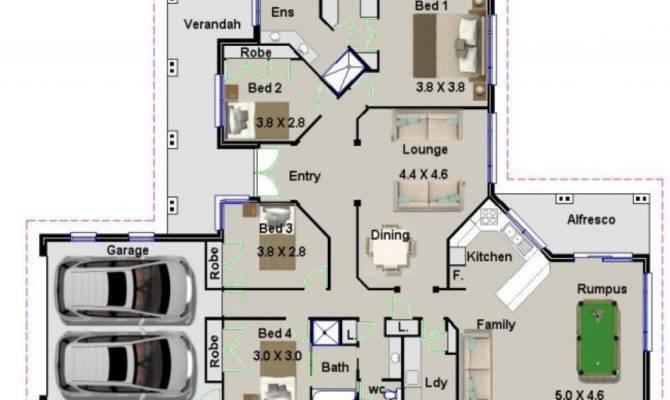 Bedroom House Plans Australia Modern Plan