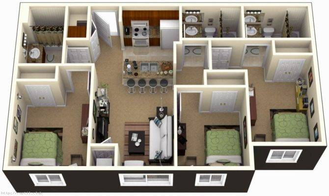 Bedroom House Plans Design Home