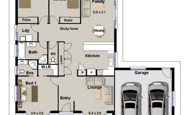 Bedroom House Plans Double Garage Pdf Savae