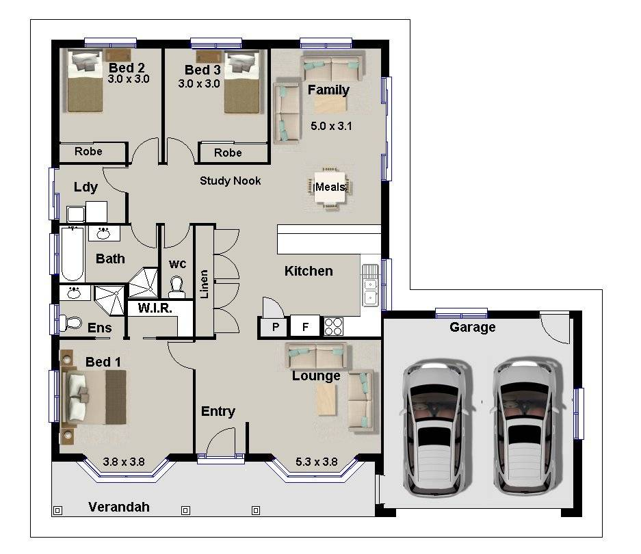 Bedroom House Plans Double Garage Pdf Savae House Plans 157491