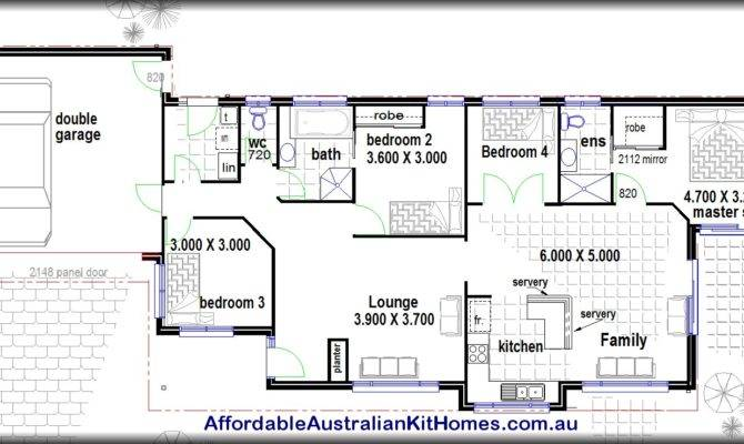 Bedroom House Plans Kit Homes Australian