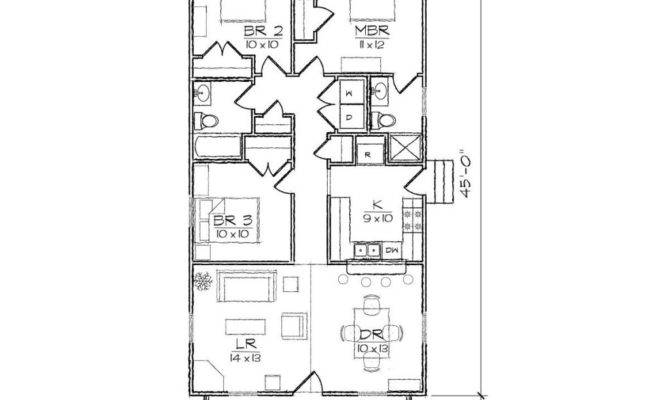 Bedroom House Plans Narrow Lot Inspirational