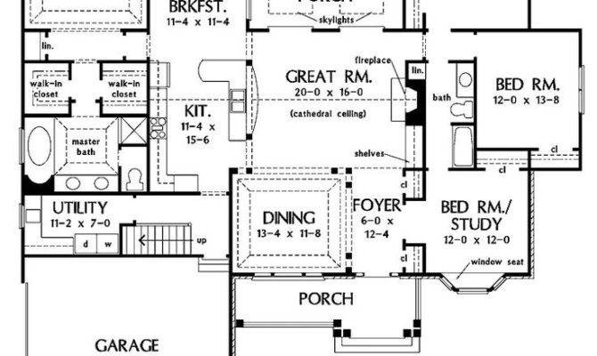 Bedroom House Plans One Story Basement