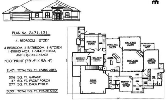 Bedroom House Plans One Story Decor Plan