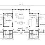 Bedroom House Plans One Story Marceladick