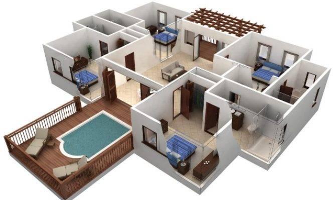 Bedroom House Plans Real Estate