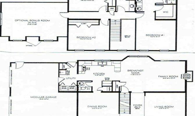 Bedroom House Plans Story Bungalow Floor