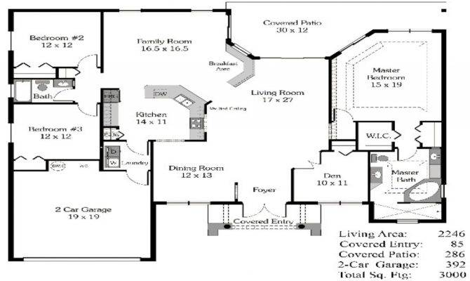 Bedroom House Plans There More