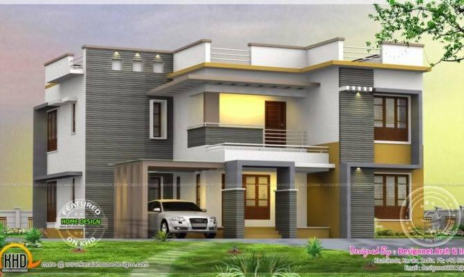 Bedroom House Rendering Home Kerala Plans