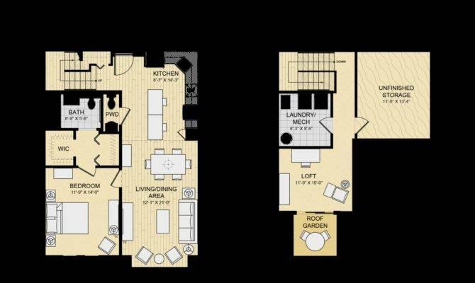 Bedroom Loft Apartment Floor Plans Latest