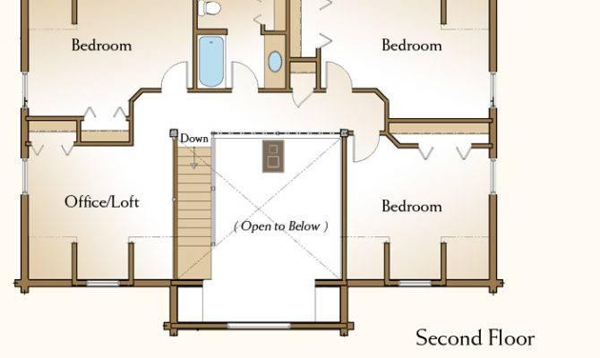 Bedroom Log Home Plans Deco