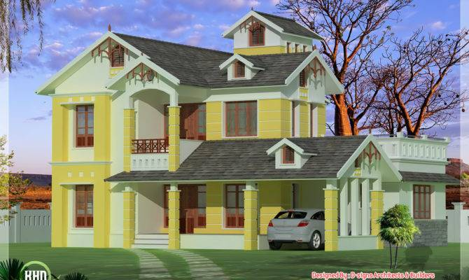 Bedroom Luxurious Small Villa Architecture House Plans