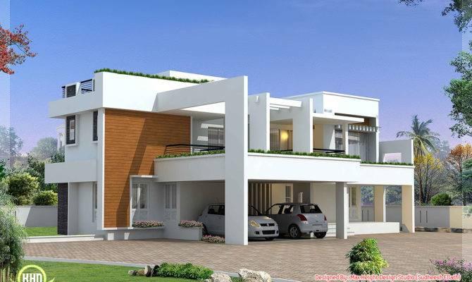 Bedroom Luxury Contemporary Villa Design House Plans