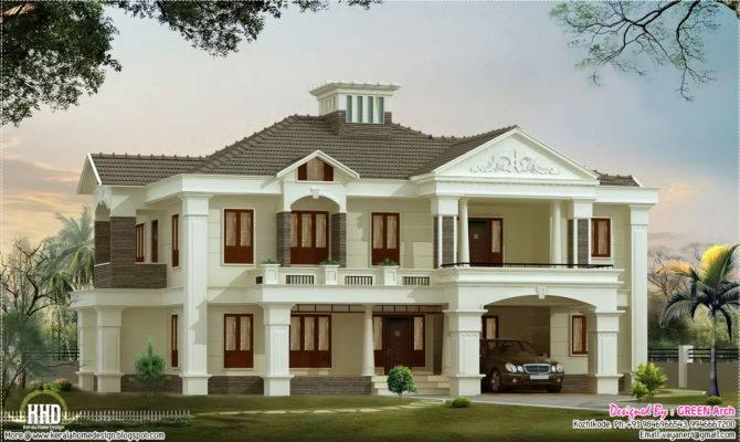 Bedroom Luxury Home Design Kerala Floor Plans
