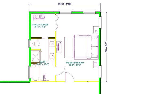 Bedroom Master Floor Plan Addition Plans