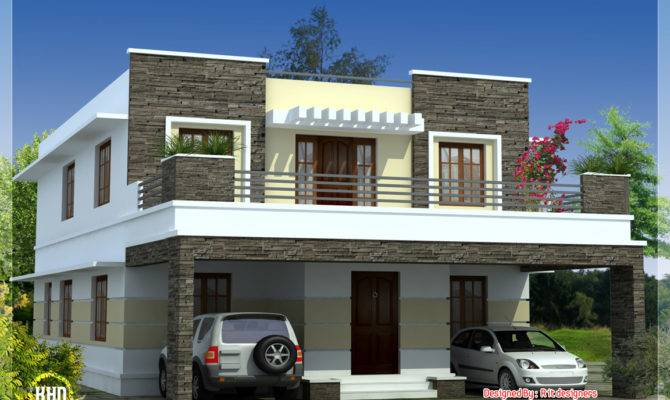 Bedroom Modern Flat Roof House Kerala Home Design