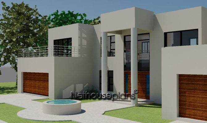 Bedroom Modern Style House Plans South Africa