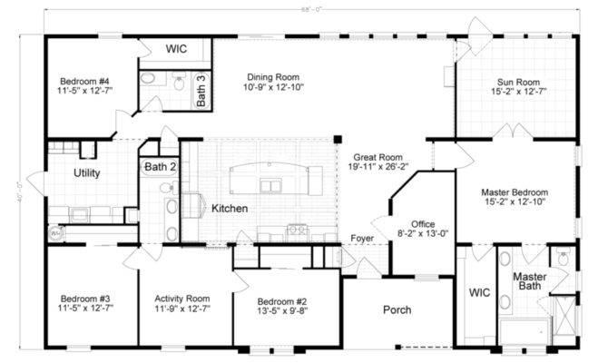 Bedroom Modular Home Plans Simple Floor Mobile