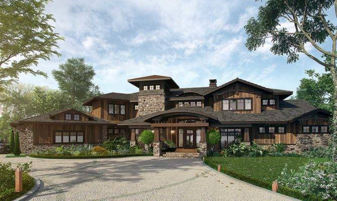 Bedroom Mountain Lodge House Plan