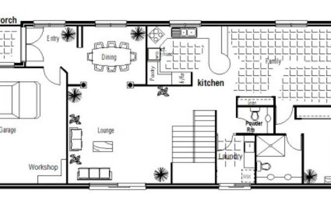 Bedroom Narrow Lot House Plan Storey Plans