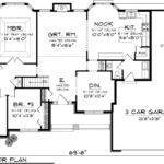 Bedroom Ranch Floor Plans First Plan
