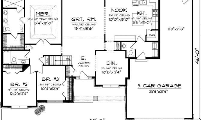 Bedroom Ranch Floor Plans First Plan