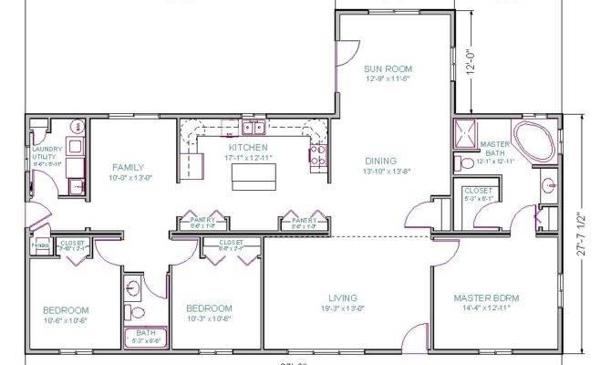 Bedroom Ranch Floor Plans Real Estate