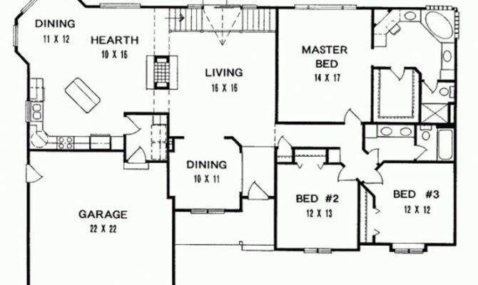 Bedroom Ranch House Floor Plans Archives New Home