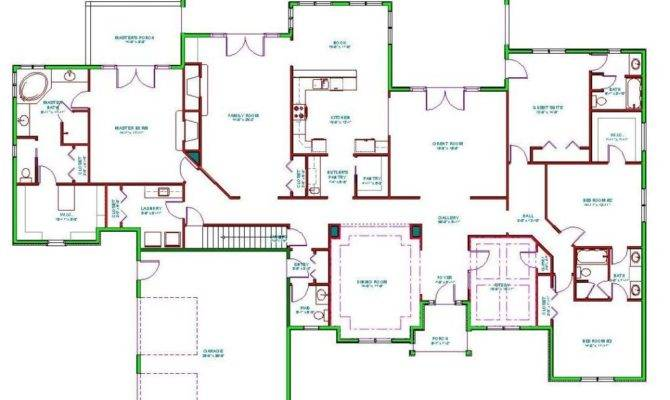 Bedroom Ranch House Plans New