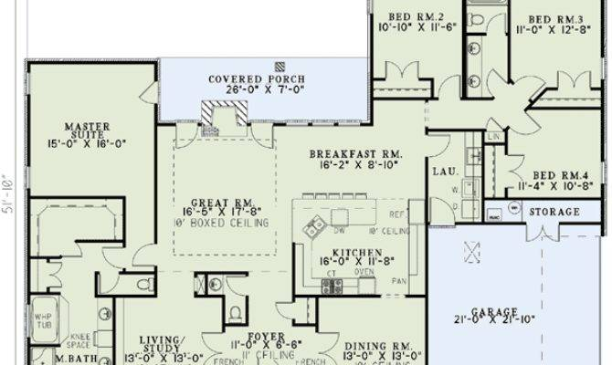 Bedroom Ranch House Plans Plan Neo