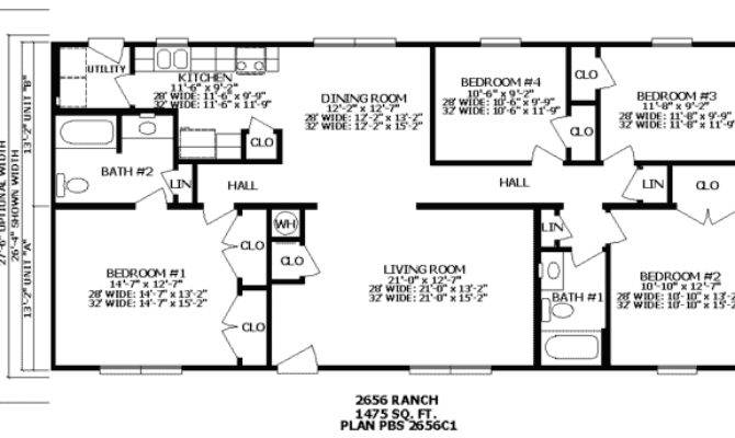 Bedroom Ranch House Plans Real Estate