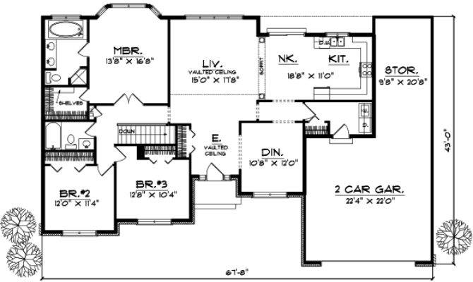 Bedroom Ranch Style Floor Plans Photos Video