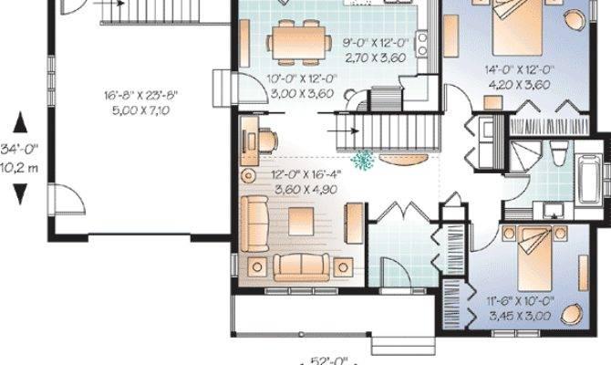 Bedroom Ranch Vaulted Spaces Floor