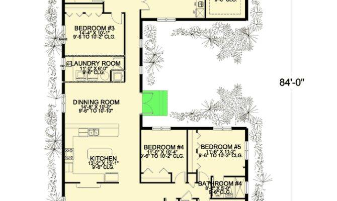 Bedroom Shaped House Plan Architectural