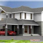 Bedroom Sloping Roof House Kerala Home Design