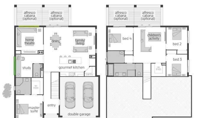 Bedroom Split Level Floor Plans Four House Also