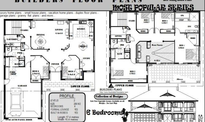 Bedroom Storey House Floor Plans Blueprints Sale Ebay
