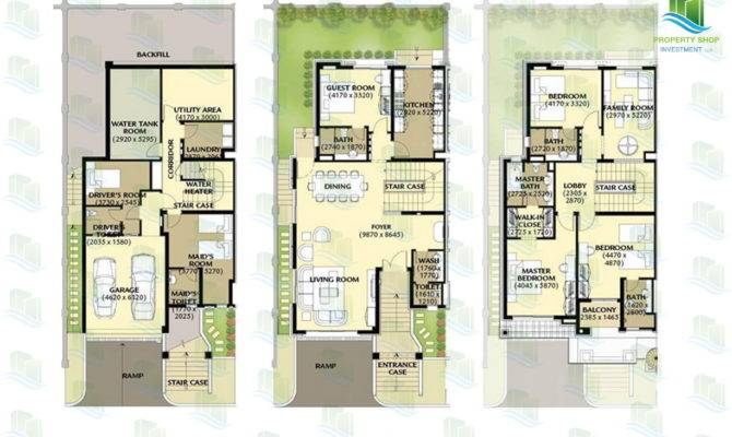 Bedroom Townhouse Area Sqft Townhouses Layout Floor Plans
