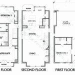 Bedroom Townhouse Plan New House Plans Small