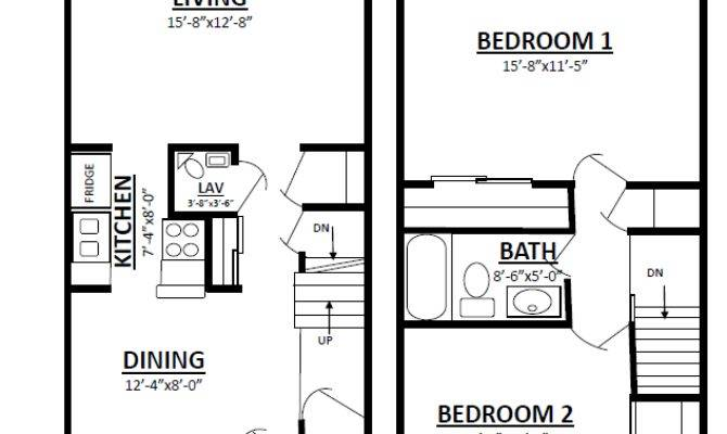 Bedroom Townhouse Plans Home Furniture Design