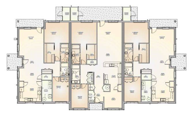 Bedroom Triplex Floor Plans