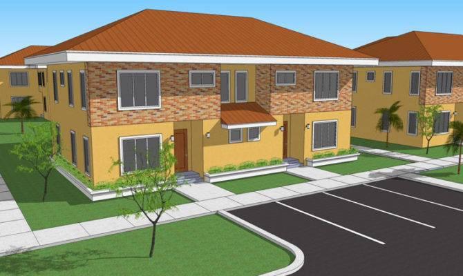 Bedroomed Semi Detached House Plans Design