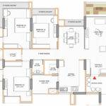 Bedrooms Luxury Apartment Plan
