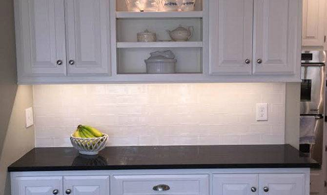Before After Kitchen Reno Painted Cabinets Home