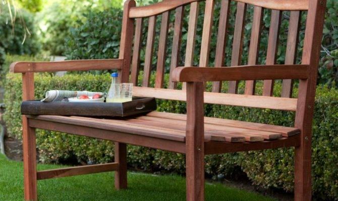 Belham Living Richmond Curved Back Outdoor Wood Bench