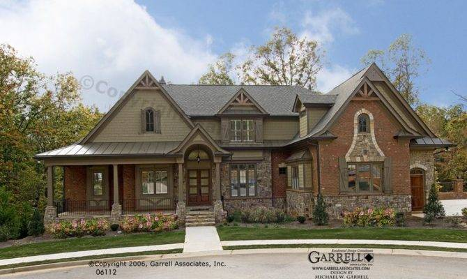Bellevue House Plan Front Elevation Craftsman Style