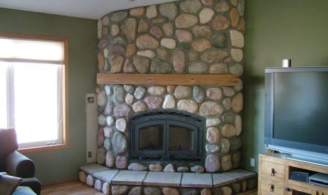 Below Fireplace Built House Planning