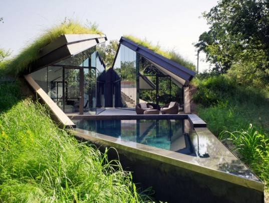 Bercy Chen Studio Green Roofed Edgeland House Transforms