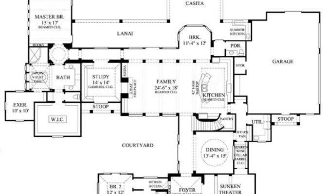 Best Courtyard Floor Plans Pinterest