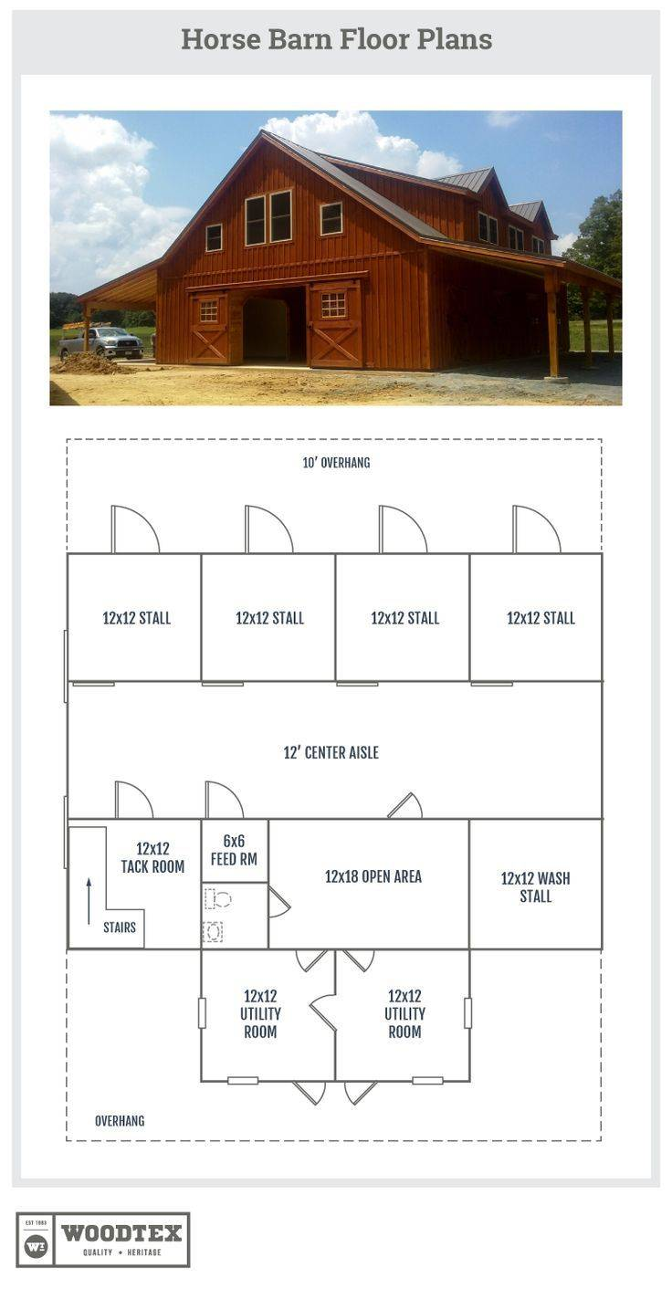 Best Horse Barns Living Quarters House Plans 94143
